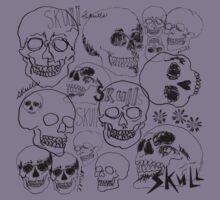 Black Sketchbook Skulls Kids Clothes