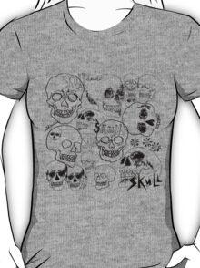 Black Sketchbook Skulls T-Shirt