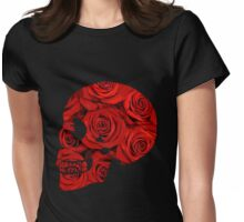 Rosie Skull  Womens Fitted T-Shirt