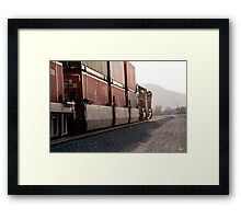 Down the Line Framed Print