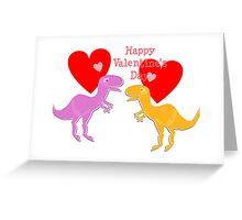 Cute T-Rex Love Hearts Greeting Card