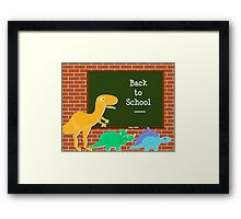 Back to School Cute Dinosaurs for Kids Framed Print