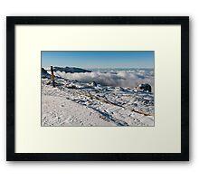 snowy summit Framed Print