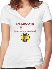"""""""I'm Groupie Number.... """" Joss Whedon's Dr. Horrible - Dark Women's Fitted V-Neck T-Shirt"""