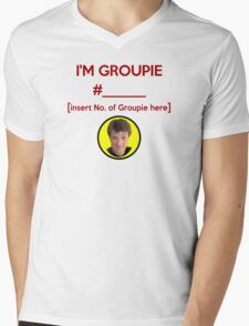 """I'm Groupie Number.... "" Joss Whedon's Dr. Horrible - Dark Mens V-Neck T-Shirt"