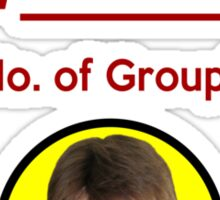"""I'm Groupie Number.... "" Joss Whedon's Dr. Horrible - Dark Sticker"