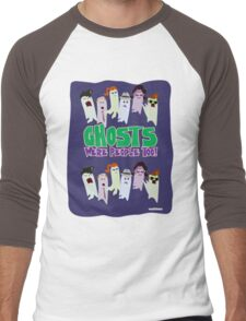 Ghosts Were People Too Men's Baseball ¾ T-Shirt