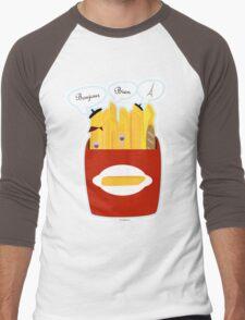 French Fries Men's Baseball ¾ T-Shirt
