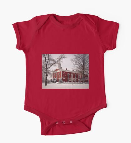 Courthouse in the Snow One Piece - Short Sleeve