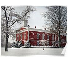 Courthouse in the Snow Poster