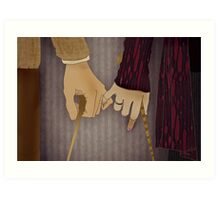 Tonks and Lupin Art Print
