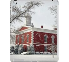 Courthouse in the Snow iPad Case/Skin
