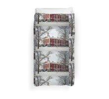 Courthouse in the Snow Duvet Cover