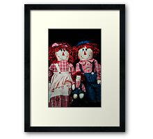 The Raggedys' Family Portrait Framed Print