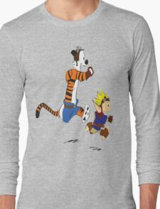 Calvin and Hobbes Jak And Daxter Long Sleeve T-Shirt