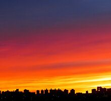 New York City Sunset by Alberto  DeJesus