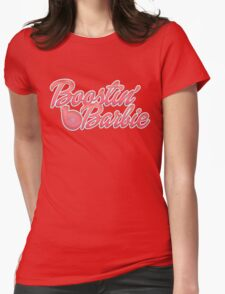 Boostin' Barbie Womens Fitted T-Shirt