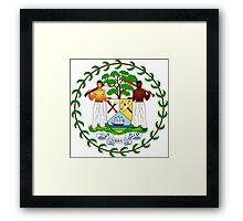 Belize Coat of Arms  Framed Print