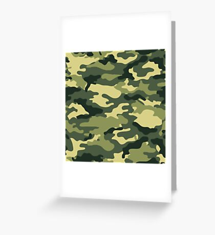 Camouflage Army Serie Greeting Card
