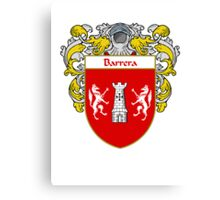 Barreno Coat of Arms/Family Crest Canvas Print