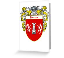 Barreno Coat of Arms/Family Crest Greeting Card