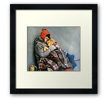 you are not alone Framed Print
