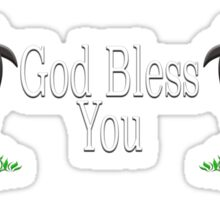 God Bless You with Sheep Sticker