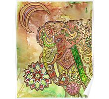 Painted Elephant Poster