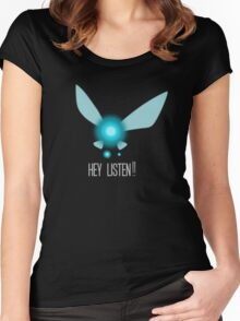 Navi Hey Listen! (Zelda) Women's Fitted Scoop T-Shirt