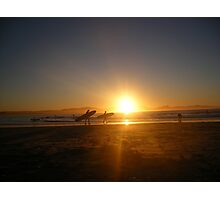 Sunset Surfers Photographic Print