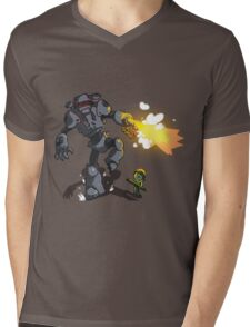 Chicks Dig Giant Robots Mens V-Neck T-Shirt