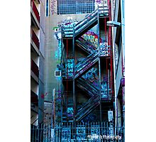 Stairway to Graffit Photographic Print