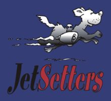 JetSetters rocket dog logo (red text) by jetsetters