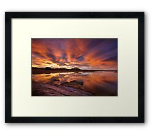 Wet Burn Framed Print