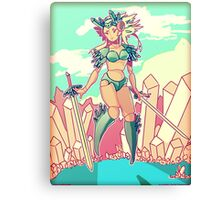 Crystal Robot Canvas Print
