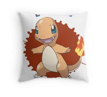 Team Charmander - Pokemon X Y Throw Pillow