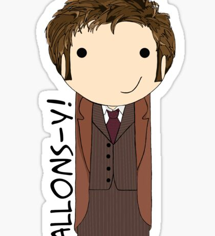 Tenth Doctor Doctor Who kokeshi doll Sticker