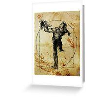 Vitruvian Zombie Unleased Greeting Card