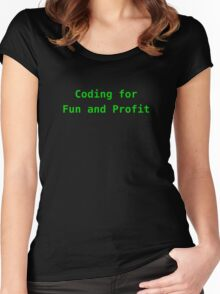 Coding for Fun and Profit Women's Fitted Scoop T-Shirt