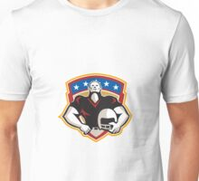 American Football Tackle Linebacker Helmet Shield Unisex T-Shirt
