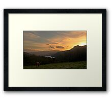 Horse Sunset Framed Print