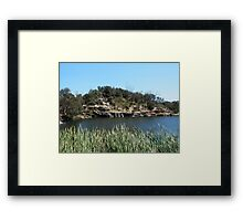 Green Lake, Yamba, Australia. Framed Print