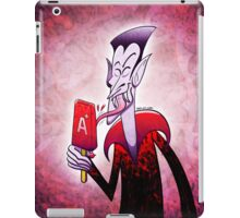 Dracula Licking a Blood Flavored Popsicle iPad Case/Skin