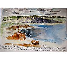 Where the Blackwood meets the Sea Photographic Print