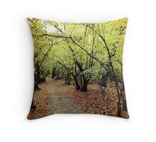 Autumn in Wimbledon Throw Pillow