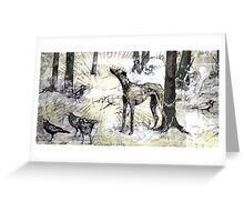 hanging with the crows Greeting Card