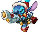 Christmas Stitch with blaster by LilooCola