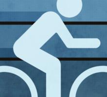 Biking Blue Sticker