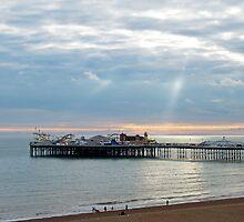Brighton Pier and Sunbeams by Sue Robinson