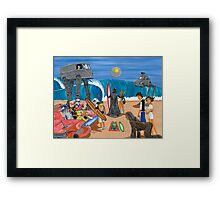 Surf Wars Framed Print